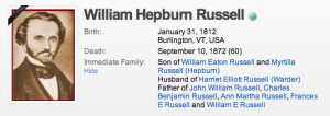 William Hepburn Russell was a co-founder of the Pony Express