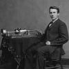 Thomas Edison and phonograph