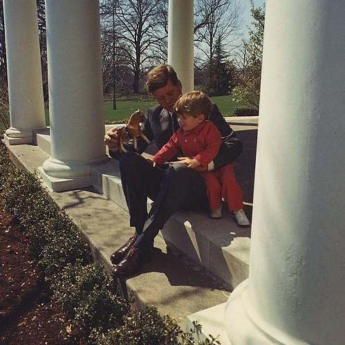 President John F. Kennedy and his son, John F. Kennedy, Jr.