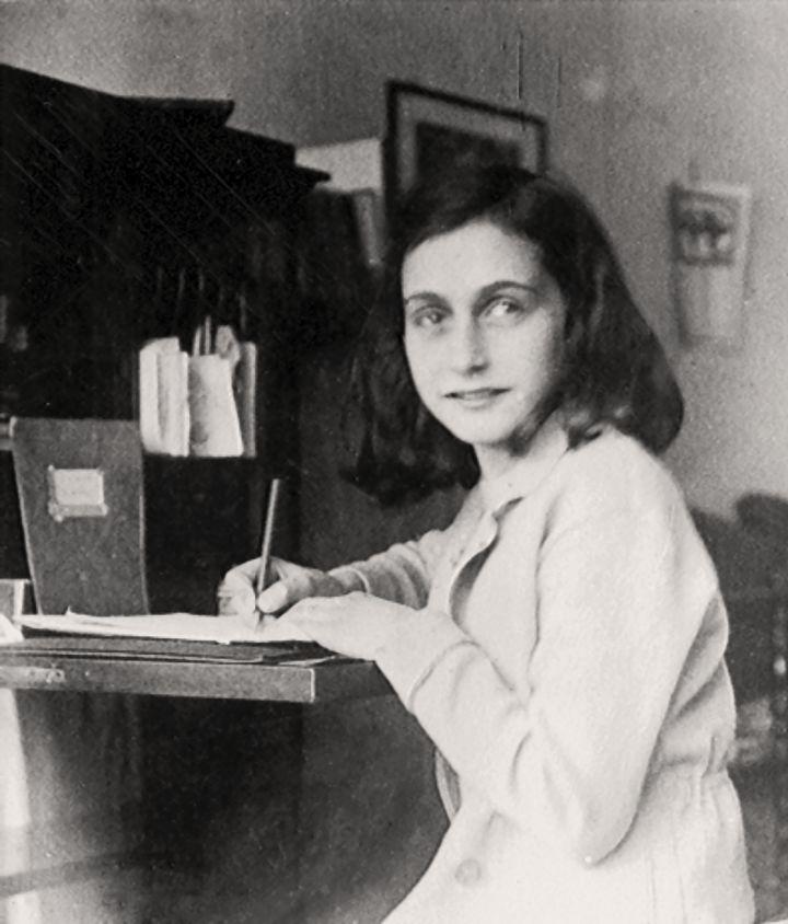Anne Frank Writing 720 x 844
