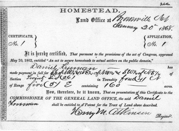 The Homestead Acts