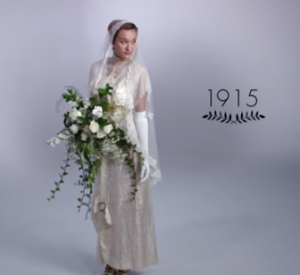 Video: 100 Years of Wedding Dresses