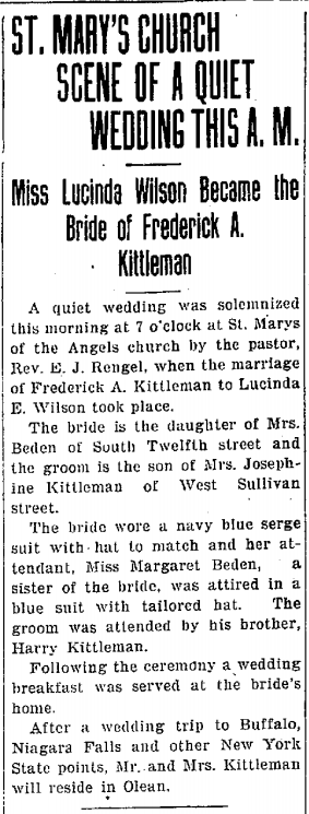 Newspapers: Wedding and Anniversary Announcements
