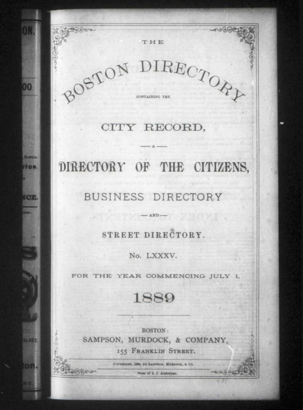 Genealogy Research: Don't Overlook City Directories