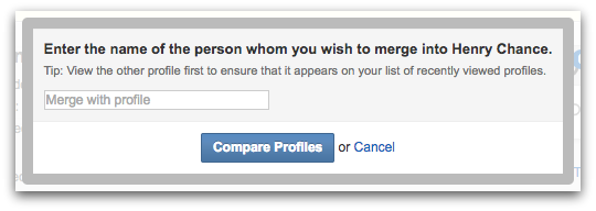 Geni Tips: Merge this Profile