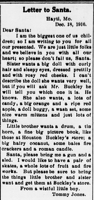 Letters to Santa From 100 Years Ago