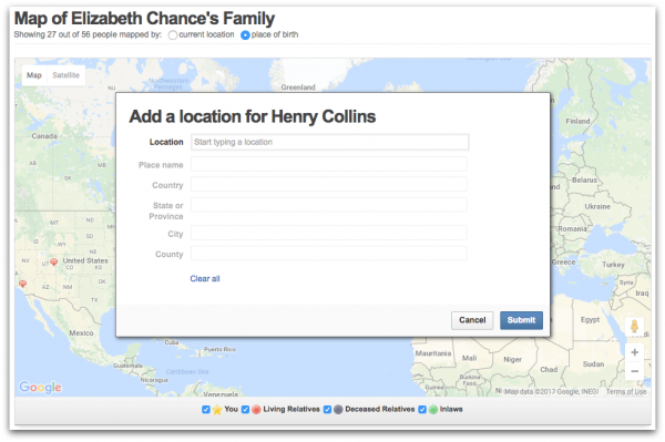 Geni Tips: Map Your Relatives