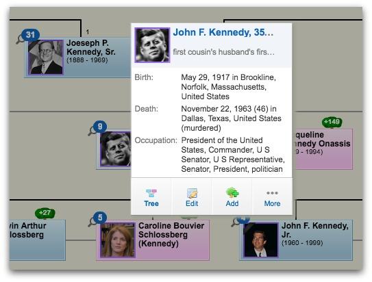 Geni Tips: Use Flip Nodes to See Profile Details in the Family Tree