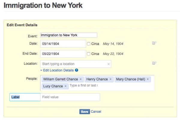 Geni Tips: Add Custom Event Details