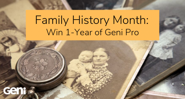 Family History Month: Win 1-Year of Pro