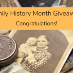 Family History Month 2019 Giveaway Winner