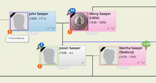 Introducing the Consistency Checker to the World Family Tree