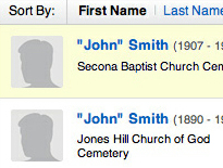 Search for your ancestors
